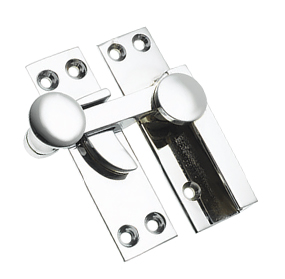Prima Quadrant Sash Window Fastener (67mm), Polished Chrome - BC133