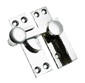 Quadrant Sash Window Fastener (67mm), Polished Chrome - BC133