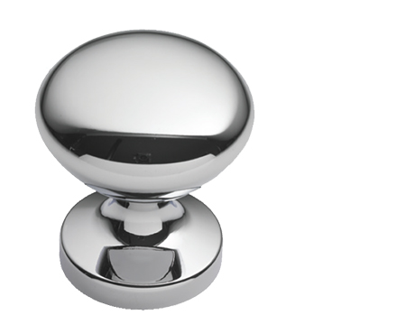 Prima Round Centre Door Knob, Polished Chrome - BC1348