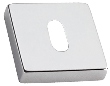 Prima 'Standard Profile' Square Escutcheon, Polished Chrome - BC1376