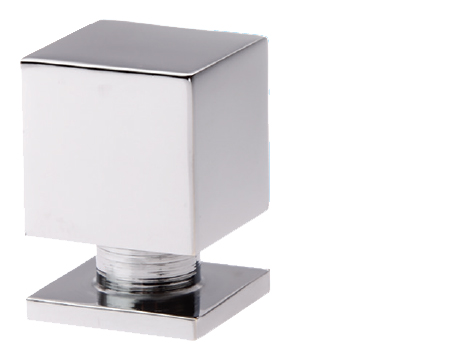 Prima Cube Cupboard Knob (15mm, 20mm Or 25mm), Polished Chrome - BC1396