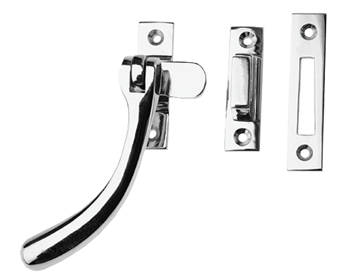 Prima 'Pear Drop' Reversible Casement Fastener For Weatherstripped Windows, Polished Chrome - BC1400