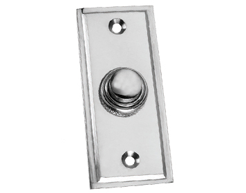 Prima 'Stepped' Bell Push, Polished Chrome - BC183