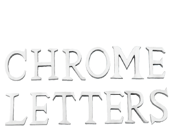 Prima 'Pin Fix' 50mm Letters (A-Z), Polished Chrome Finish - BC222