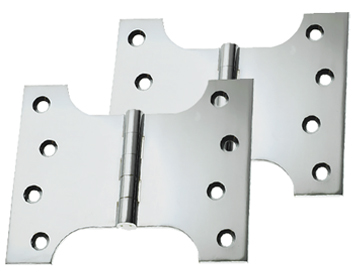 Prima Parliament Hinges (4, 5 OR 6 Inch), Polished Chrome - BC234 (sold in pairs)