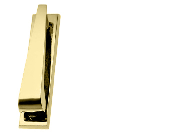 'Contemporary' Door Knockers, Polished Brass - PB26