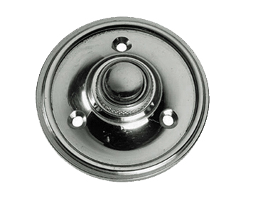 Prima 'Victorian Circular' Bell Pushes, Polished Chrome - BC39