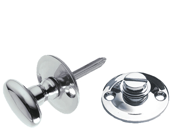 Prima Oval 38mm Diameter Turn & Release Security Key (Hex/Rack), Polished Chrome - BC661