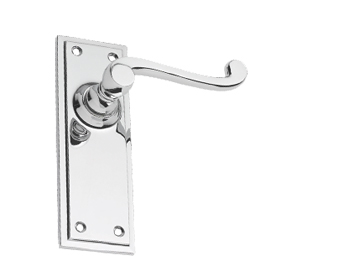 Prima Tudor Polished Chrome Door Handles - BC681 (sold in pairs)