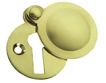 Prima 'Tudor' Covered Standard Profile Escutcheon, Polished Brass - PB691