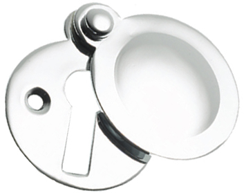 Prima 'Tudor' Covered Standard Profile Escutcheon, Polished Chrome - BC691