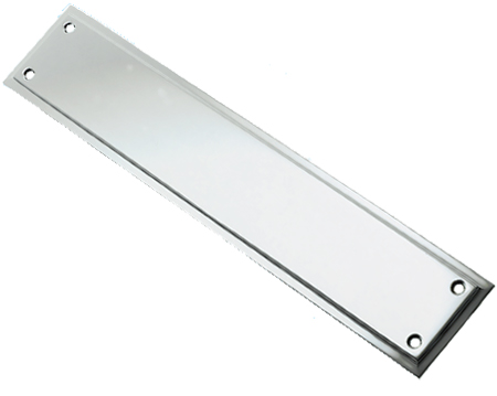 Prima Tudor Finger Plate, Polished Chrome - BC695