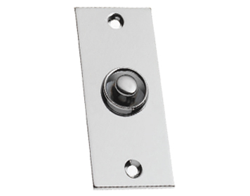 Prima 'Flat Victorian' Bell Push, Polished Chrome - BC749