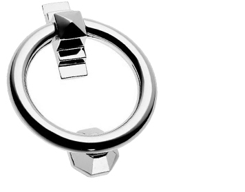 'Art Deco Ring' Door Knocker, Polished Chrome - PR779