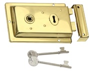 Prima Rim Lock (155mm x 105mm), Polished Brass - BH43