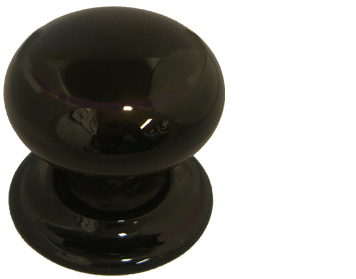 Chatsworth Black Porcelain Mortice Door Knobs - BUL602-7-BLK