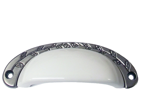 Chatsworth White Porcelain Oxford Cup Handle (Multiple Finishes) - BUL804-WHI