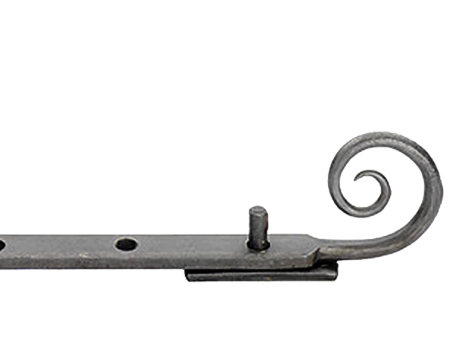 Carlisle Brass Ludlow Foundries Monkey Tail Window Stays (203mm, 254mm Or 305mm), Beeswax - BW5541