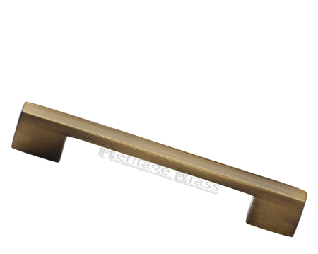 Heritage Brass Metro Design Cabinet Pull Handle (Various Lengths), Antique Brass - C0337-AT