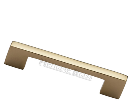 Heritage Brass Metro Design Cabinet Pull Handle (Various Lengths), Polished Brass - C0337-PB