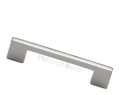Heritage Brass Metro Design Cabinet Pull Handle (Various Lengths), Polished Nickel - C0337-PNF