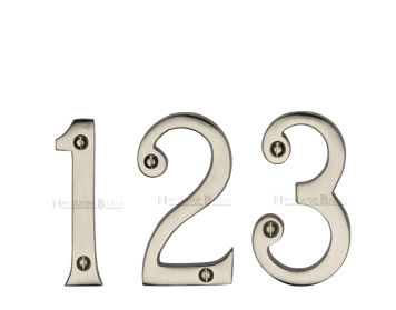 Heritage Brass 0-9 Screw Fix Numerals (76mm - 3