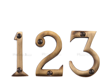 Heritage Brass 0-9 Screw Fixing Numerals (51mm - 2