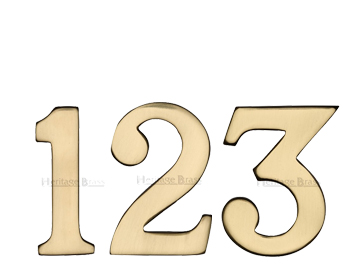 Heritage Brass 0-9 Self Adhesive Numerals (51mm - 2