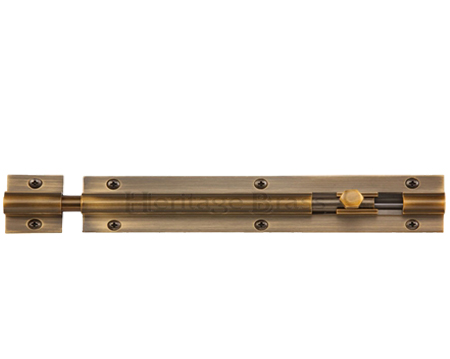 Heritage Brass Straight Barrel Door Bolt (4