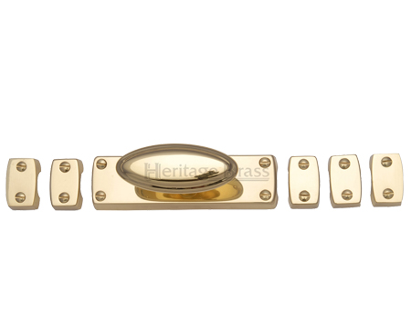Heritage Brass Espagnolette Bolt (Provided With 1M & 1.5M Bar), Polished Brass - C1688-PB