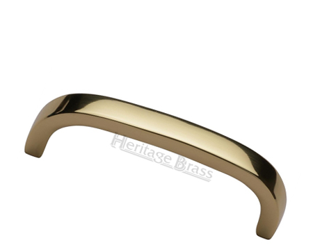 Heritage Brass 'D' Shaped Cabinet Pull Handle (89mm, 152mm OR 203mm C/C), Polished Brass - C1800-PB