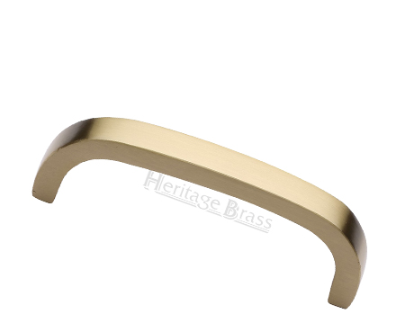 Heritage Brass 'D' Shaped Cabinet Pull Handle (89mm, 152mm OR 203mm C/C), Satin Brass - C1800-SB