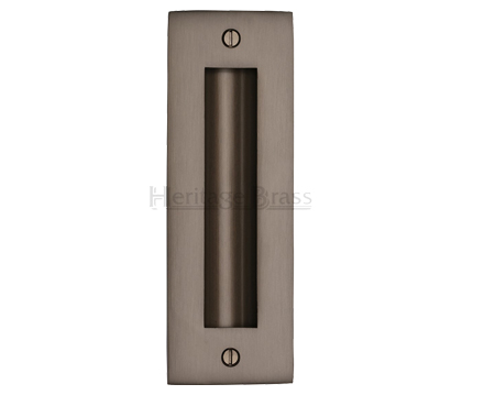 Heritage Brass Flush Pull Handle (102mm OR 152mm), Matt Bronze - C1820-MB