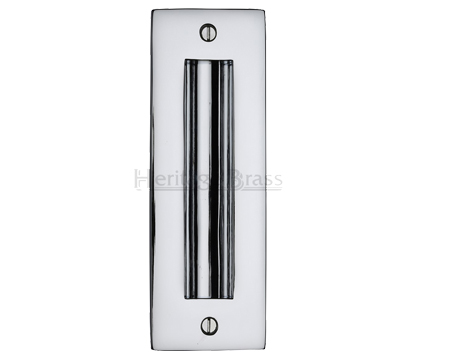 Heritage Brass Flush Pull Handle (102mm OR 152mm), Polished Chrome - C1820-PC