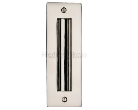 Heritage Brass Flush Pull Handle (102mm OR 152mm), Polished Nickel - C1820-PNF