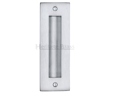 Heritage Brass Flush Pull Handle (102mm OR 152mm), Satin Chrome - C1820-SC