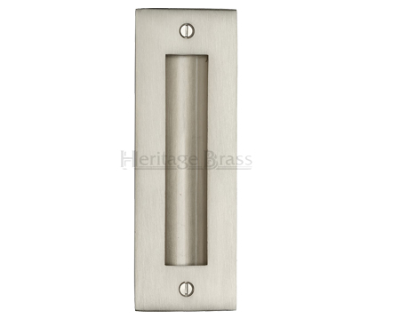 Heritage Brass Flush Pull Handle (102mm OR 152mm), Satin Nickel - C1820-SN