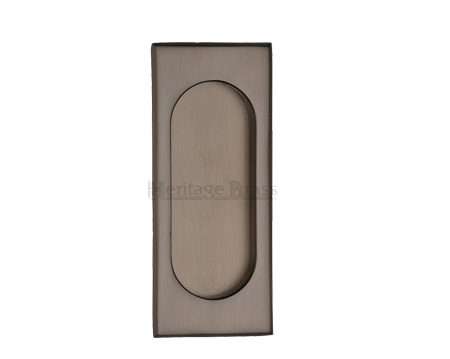 Heritage Brass Flush Pull Handle (105mm), Matt Bronze - C1850-MB