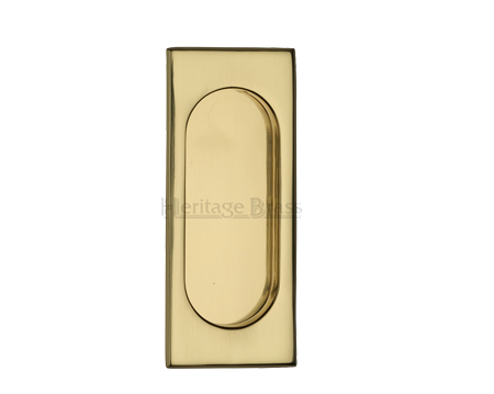 Heritage Brass Flush Pull Handle (105mm), Polished Brass - C1850-PB
