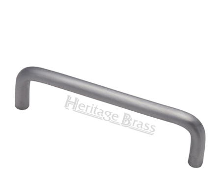 Heritage Brass 'D' Shaped Cabinet Pull Handle (89mm OR 152mm C/C), Satin Chrome - C2155-SC