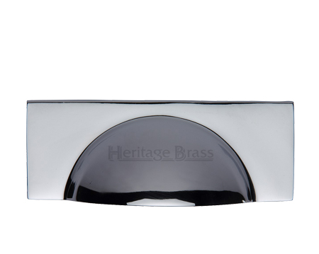 Heritage Brass Cabinet Drawer Pull Handle (57mm C/C), Polished Chrome - C2764-PC