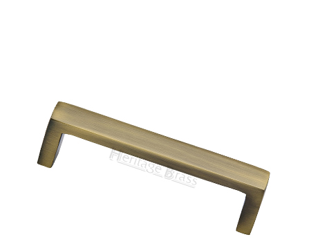 Heritage Brass Metro Design Cabinet Pull Handle (101mm, 152mm OR 203mm C/C), Antique Brass - C4520 AT
