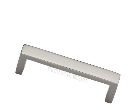 Heritage Brass Metro Design Cabinet Pull Handle (101mm, 152mm OR 203mm C/C), Polished Nickel - C4520-PNF