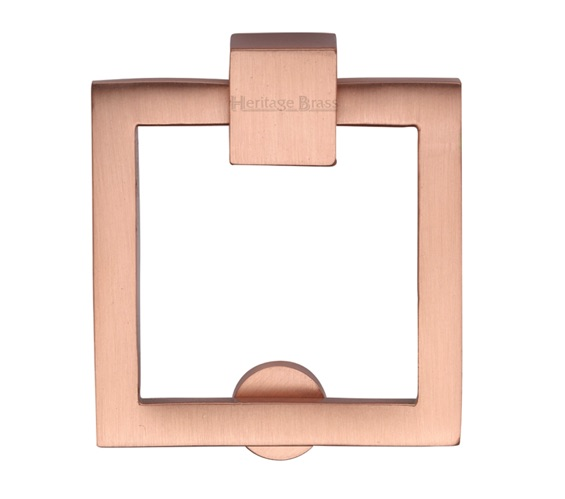 Heritage Brass Square Drop Cabinet Pull, Satin Rose Gold - C6311-SRG None