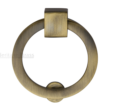 Heritage Brass Round Drop Cabinet Pull, Antique Brass - C6321-AT
