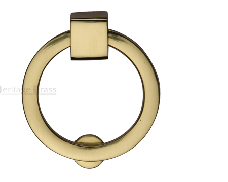 Heritage Brass Round Drop Cabinet Pull, Polished Brass - C6321-PB