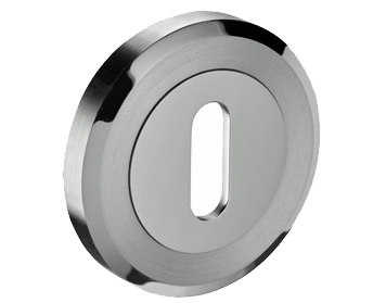 'Bevelled Edge' Standard Profile Escutcheon, Dual Finish Polished & Satin Stainless Steel - C83