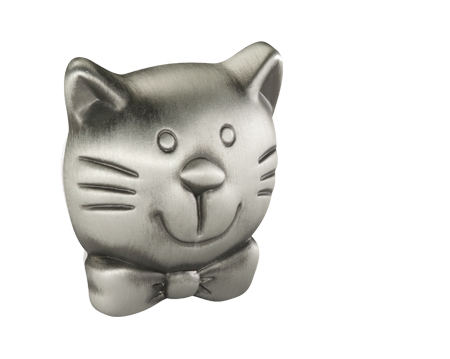 Siro 'Pewter Effect Cat' Cabinet Knob - 188636ZN50