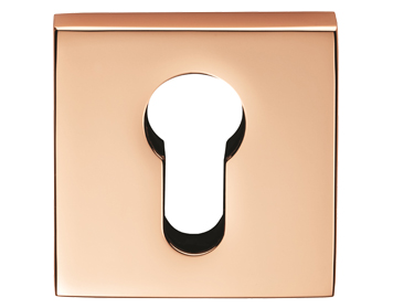 Carlisle Brass Cebi Square Euro Profile Escutcheons, Copper - CEB001QCOP