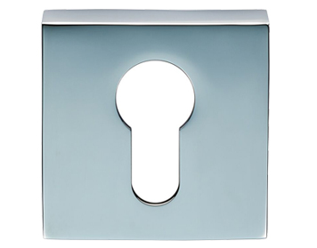 Carlisle Brass Cebi Square Euro Profile Escutcheons, Polished Chrome Or Satin Chrome - CEB001Q